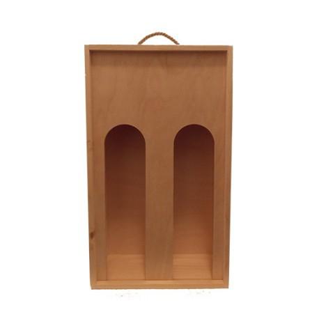 Fa dobozok, tartók, tasakok 2-es Fadoboz bordoi palackhoz