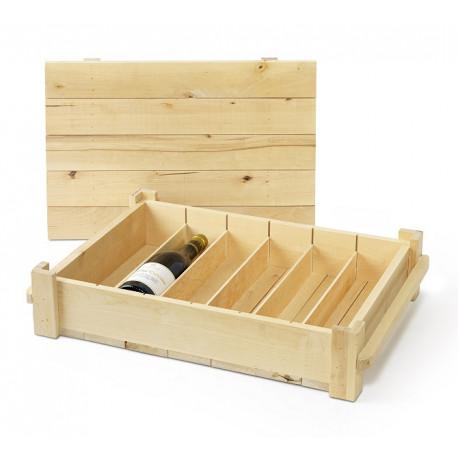 Fa dobozok, tartók, tasakok 6-os Faláda, egysoros