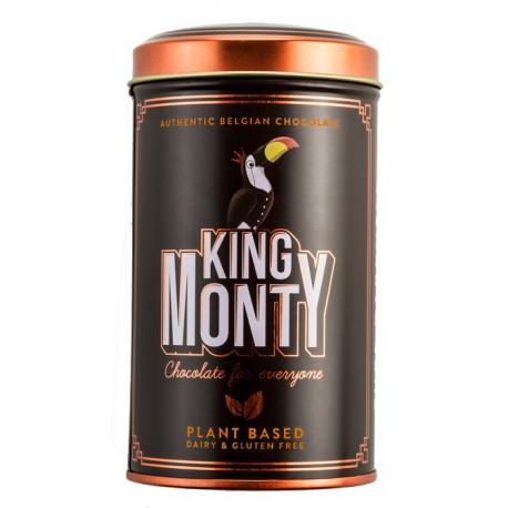 King Monty Pure Darkness Sunny Orange - csokoládé pálcikák fém díszdobozban 130g