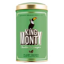 King Monty Classic Cacao Hazelnut Crunch - csokoládé pálcikák fém díszdobozban 130g