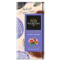 Vanini 62%-os étcsokoládé fügével és mandulával 100g